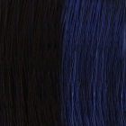 Original SO.CAP. Hair Extensions glatt #1b/Blue- bicolour